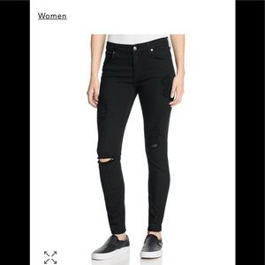 7 for all Mankind Destroyed Ankle Skinny, Size 28